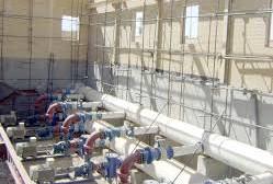 پیشرفت ۹۵ درصدی ایستگاه های پمپاژ خط انتقال آب شهرستان بهاباد