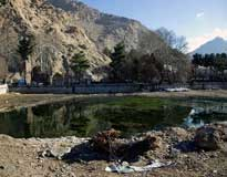 آب در چشمه های سراب تاق بستان جاری شد