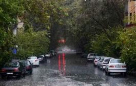 ثبت بیش از ۲۰ میلیمتر بارش در استان تهران
