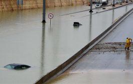 بخشهایی از یک مسجد در عربستان زیر آب رفت/ شهروندان جیزان در سیل گرفتار شدند