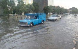 بارش شدید باران سبب آبگرفتگی معابر و خیابانهای بجنورد شد