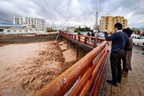 احتمال وقوع سیلاب در رودخانه ها و مسیل های استان
