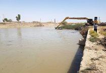 دریاچه سد انحرافی خیرآباد در خوزستان لایروبی شد