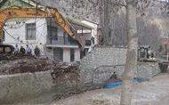 رفعتصرف ۱۰۰۰ متر مربع از بستر رودخانه جاجرود